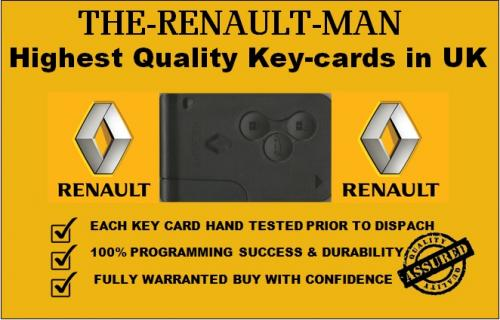 Renault key cards supplied and programmed, Liverpool